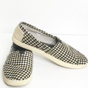 Toms Men Boot Shoes 12 Black Checkered Pattern